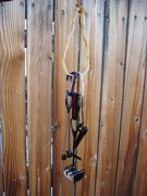 Rock Climbing Photo: Glass rack with glass racking sling.  Gunks rack f...