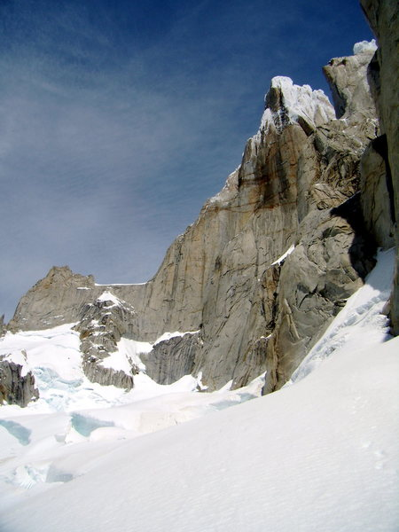 Rock Climbing Photo: Approach to Cerro Torre.  Jan 2009