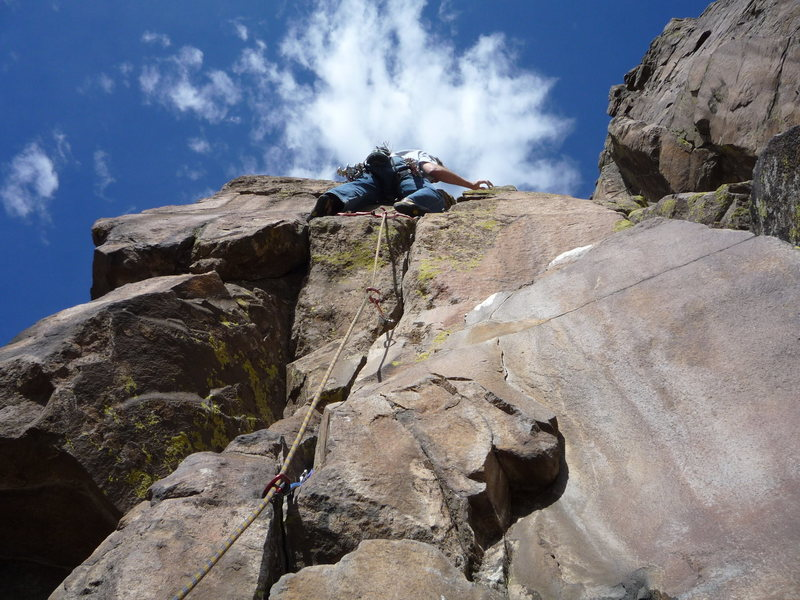 Above the crux.