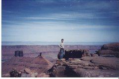 Rock Climbing Photo: My climbing partner on top!