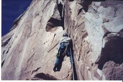 Rock Climbing Photo: Leading on the Kor-Ingalls route