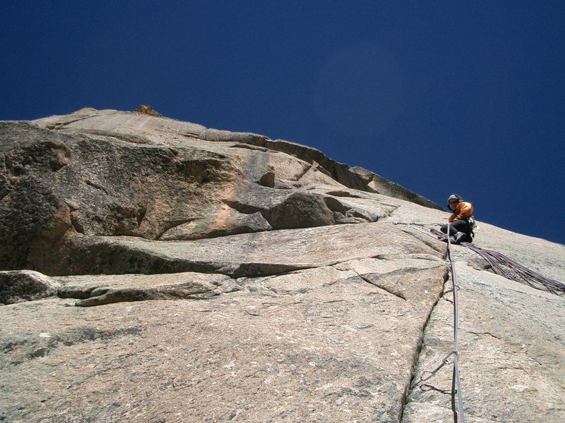 Rock Climbing Photo: Questa Dome, N.M. Question of Balance. Tertiary gr...