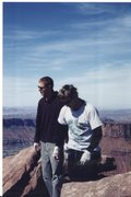 Rock Climbing Photo: Two climbers (unknown).  Nice guys to share the su...