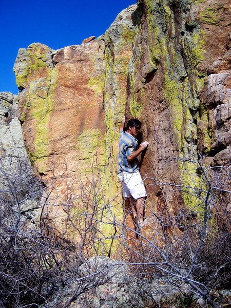 Bouldering at Rabbit Mountain.