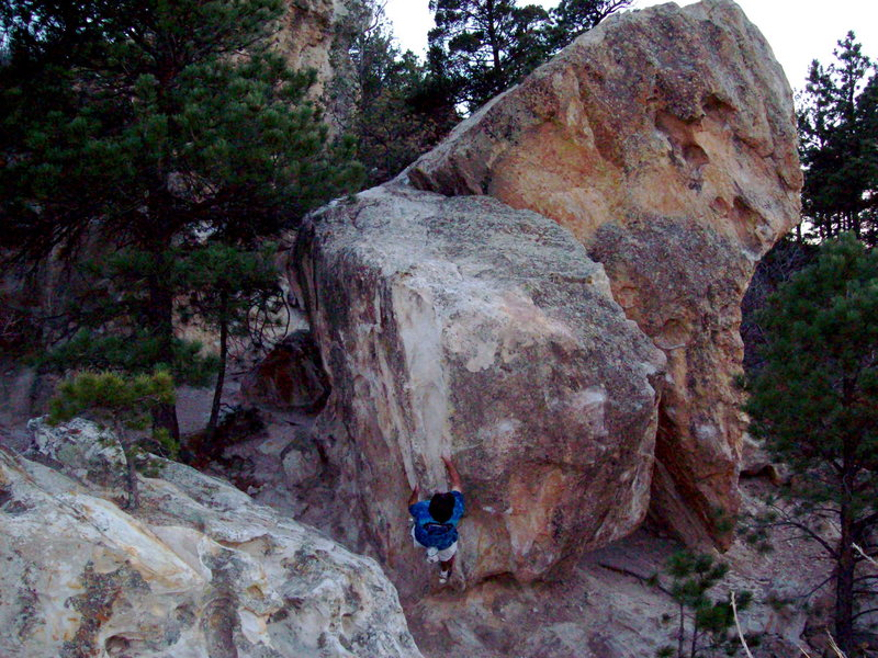 Bouldering at Ute Valley, before the Bouldering Colorado presentation.