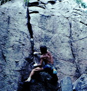 Rock Climbing Photo: Bob Horan bouldering at DL.