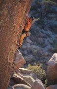 Rock Climbing Photo: Sensory Deprivation (5.12a), Joshua Tree  Photo by...