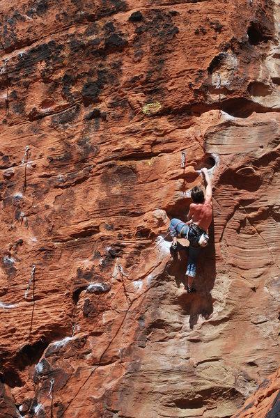 Rock Climbing Photo: Jay Knower on The Glitch. Photo by Kayte Knower