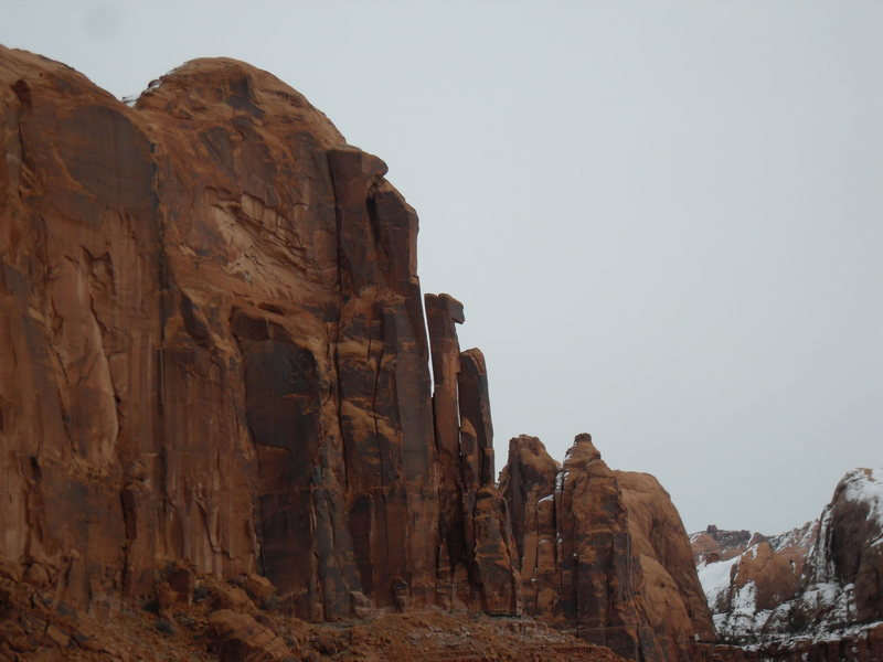 Rock Climbing Photo: Abraxes Wall from the Amasa Back trail