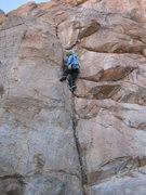 Rock Climbing Photo: Megan leading Cracker Jack
