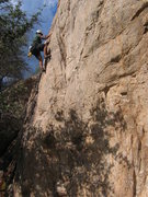 Rock Climbing Photo: Me leading peanut brittle.  One of my favorite 5.9...