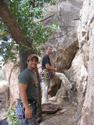 Rock Climbing Photo: Daryl and I at the base of Good n Plenty and Peanu...