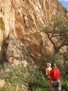 Rock Climbing Photo: Top Rope Princess Amy going up the great Hot Tamal...