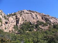 Rock Climbing Photo: Elk Slabs from the valley floor WMWR Oct 2007