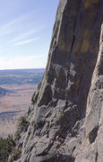 Rock Climbing Photo: Dusk in Dogtown 5.10+ Devil's Tower