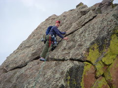 Rock Climbing Photo: Mike running the Ridgeline of 1st Flatiron Direct,...