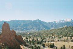 Rock Climbing Photo: montezuma's tower with pikes peak