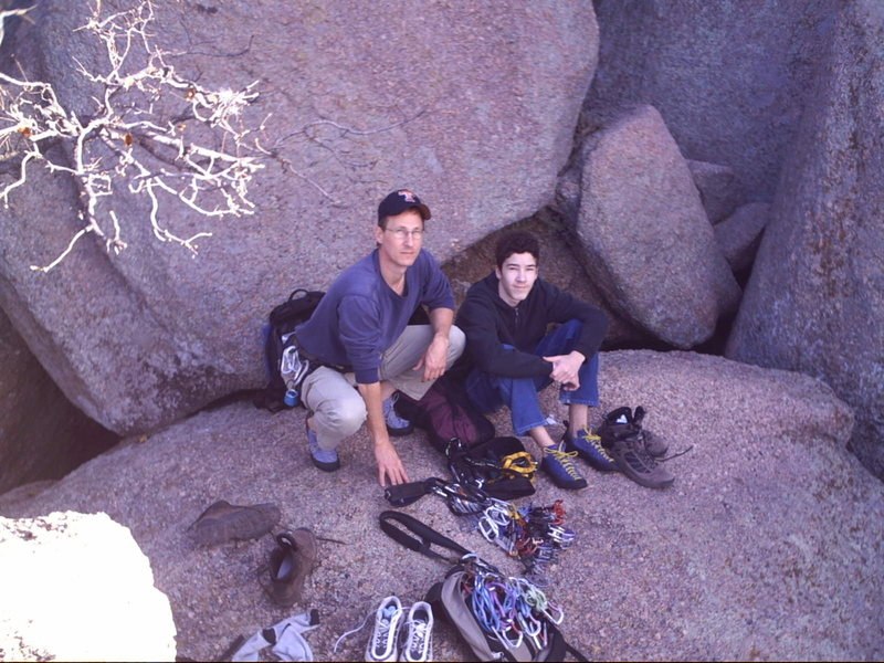 Rock Climbing Photo: Mike & Chris gearing up for Jack Knife and Cave Cr...