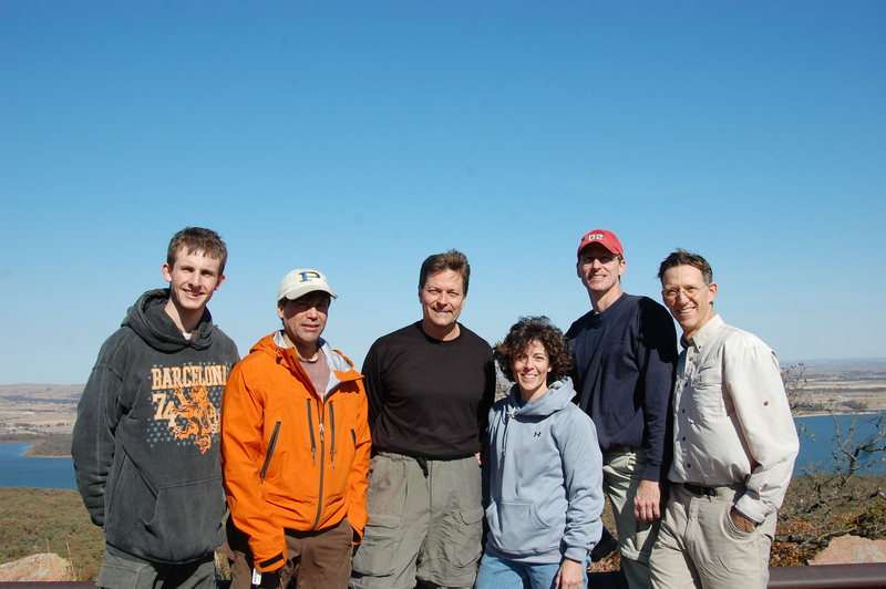 Josh, Jim, Keith, Brigitte, Mike & Chuck on Lower Mt Scott. WMWR Nov 2008.