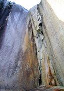 Rock Climbing Photo: Thin crack in center of photo.