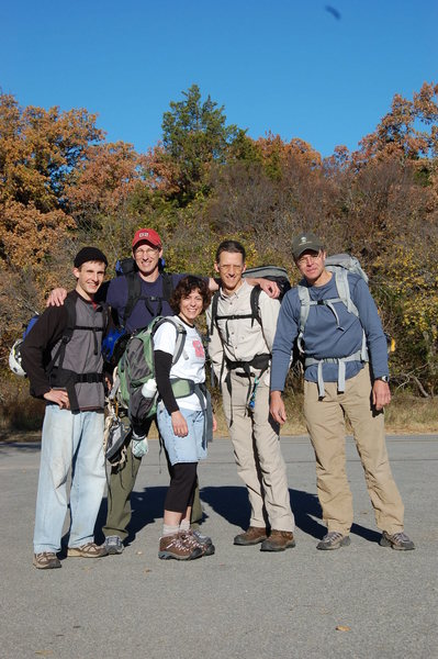 Josh, Mike, Brigitte, Chuck, Scott ready to take on the Narrows, WMWR Nov 2008.