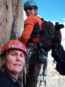 Rock Climbing Photo: Kelly W. and I somewhere on Pervertical
