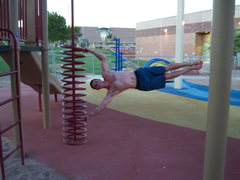 Rock Climbing Photo: Jungle gym climbing is better than anything Red Ro...