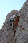 Rock Climbing Photo: Chuck pulling the roof on Mr Clean, WMWR, Lower Mt...