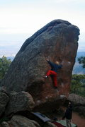 """Rock Climbing Photo: Mike B """"Sliding Left"""" on Standard Route."""