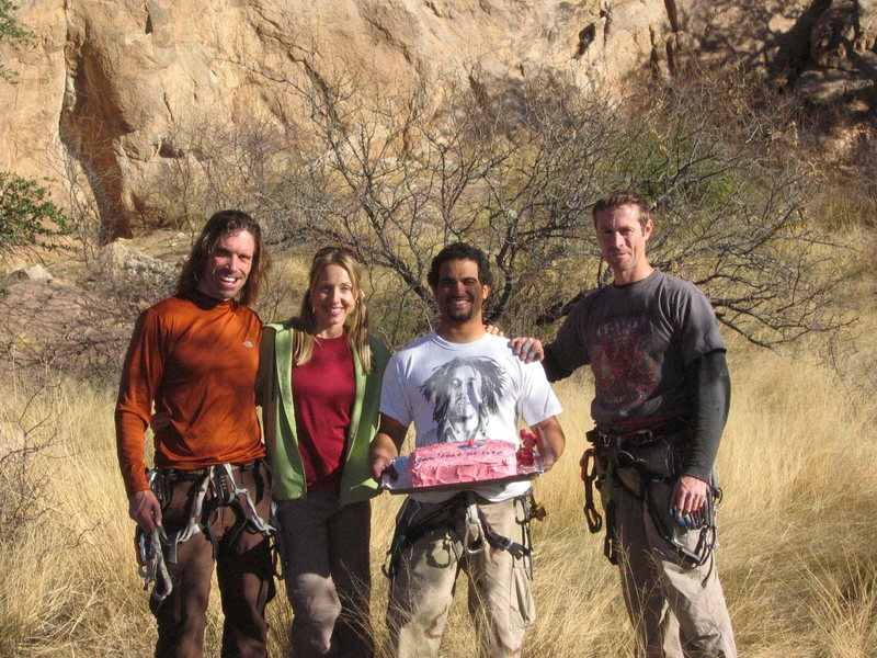 Rock Climbing Photo: The sweet rock crew (Mike, Amy, Angel and Daryl). ...