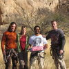 The sweet rock crew (Mike, Amy, Angel and Daryl).  Thank you for the pink go away cake and the doll