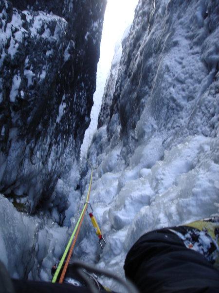 Rock Climbing Photo: Looking down the Skylight