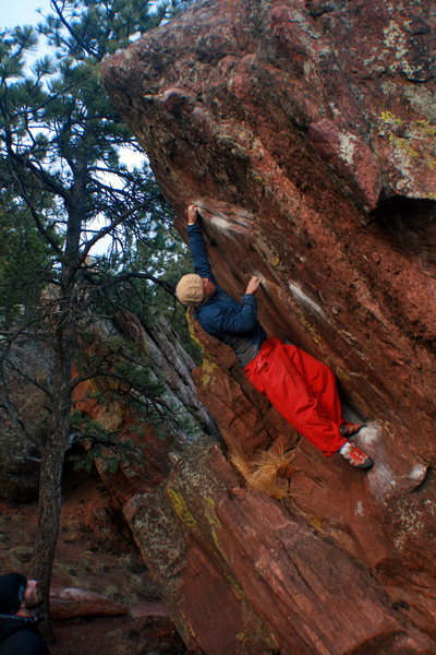 Mike B stretching it out on Big Overhang.