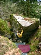 Rock Climbing Photo: Marc-Andre Leclerc on Frantic Antics V4