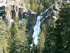 Rock Climbing Photo: Treasure in unusually easy (WI 4) conditions.  A c...