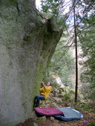 Rock Climbing Photo: Marc-Andre Leclrec on the start of The Force Unlea...