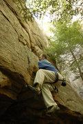 Rock Climbing Photo: TR'in a crack around the corner