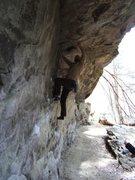 Rock Climbing Photo: Joe Bouldering at Piatt