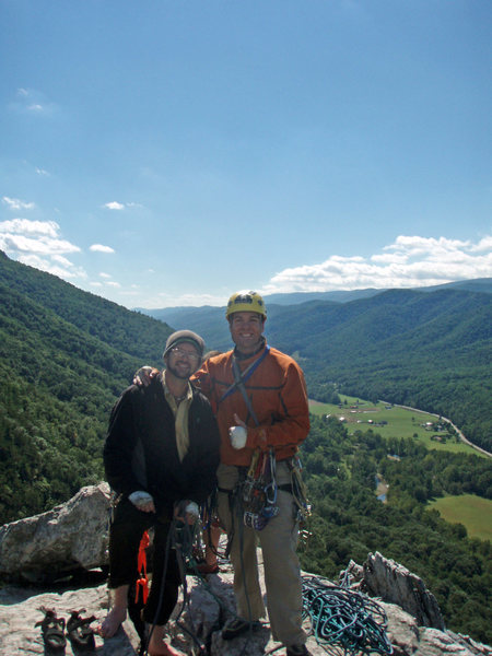 Joe and I on top of Seneca