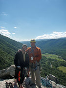 Rock Climbing Photo: Joe and I on top of Seneca