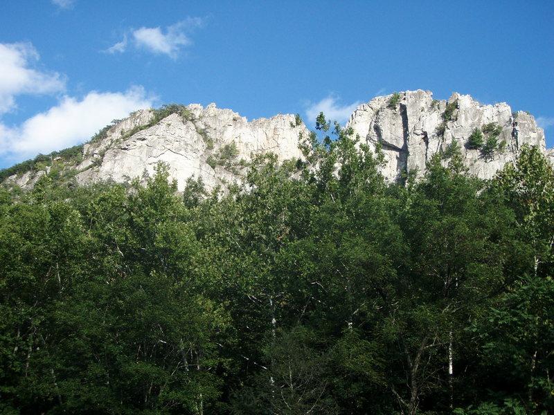 Seneca Rocks from the bridge