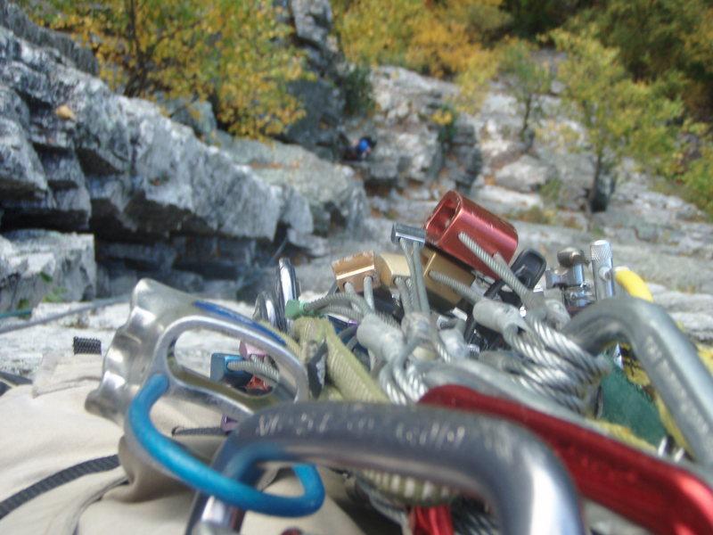 Rock Climbing Photo: On Rappel!