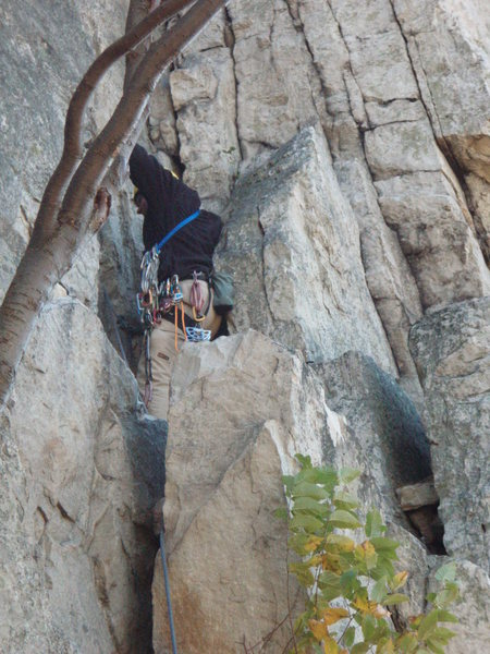Rock Climbing Photo: Last Pitch of Old Man's