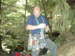 Rock Climbing Photo: Joe Racking at McConnells Mill