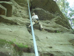Rock Climbing Photo: TR'in a little crack and McConnells mill
