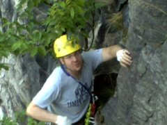 Rock Climbing Photo: After a Lead at Kiedasch Park in Hannibal OH