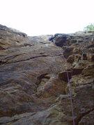 Rock Climbing Photo: Steve leading Right Corner 5.7