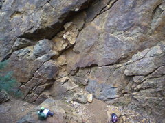 Rock Climbing Photo: Base of Left Corner