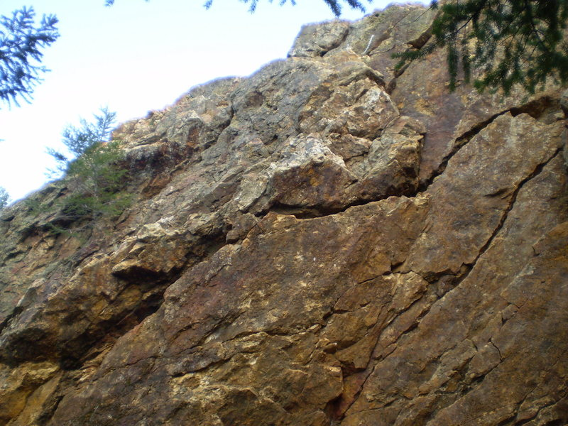 Rock Climbing Photo: upper section of Left Corner
