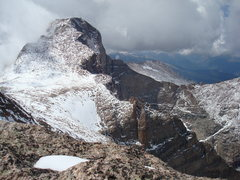 Rock Climbing Photo: Longs from the summit of Meeker, August 2008